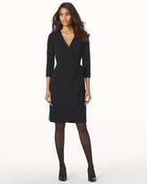 Soma Intimates e 3/4 Sleeve Faux Wrap Short Dress