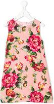 Dolce & Gabbana floral print shift dress - kids - Viscose - 8 yrs