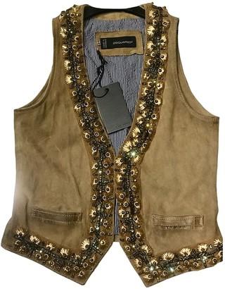 DSQUARED2 Beige Shearling Jacket for Women