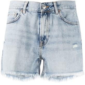 AllSaints Yanni frayed denim shorts