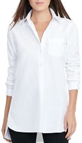 Lauren Ralph Lauren High Low Button-Down Tunic