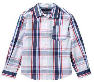 Tommy Hilfiger Long Sleeve Woven Shirt (Big Boys)