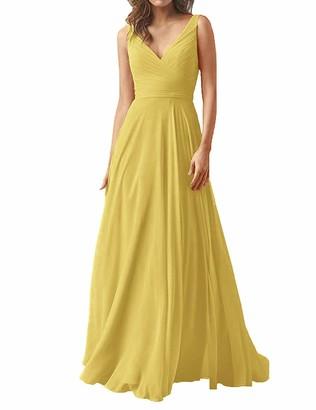 SongSurpriseMall Women Bridesmaid Dresses Evening Gowns Wedding Dress Plus Size Party Prom Elegant Lang Dresses Orange UK10