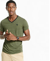 Express soft wash marled small lion v-neck t-shirt