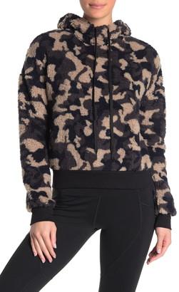Z By Zella Faux Shearling Camouflage Hooded Sweater