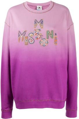 M Missoni Logo-Print Ombre Sweatshirt