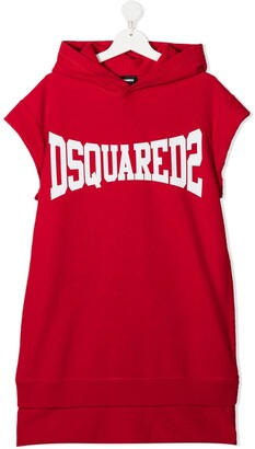 DSQUARED2 TEEN logo-print sweatshirt dress