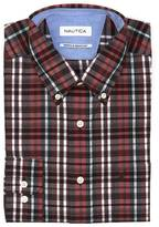 Nautica Slim Fit Wrinkle Resistant Tartan Shirt