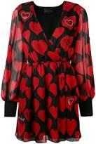 Philipp Plein heart print dress