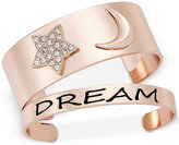 """Macy's Inspired Life 2-Pc. Set Star and Moon """"Dream"""" Cuff Bracelets"""