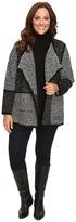 Calvin Klein Plus Plus Size Blocked Flyaway Sweater