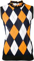 MSGM diamond knit vest - women - Polyester/Viscose - S