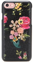 Dolce & Gabbana Embellished leather iPhone 7 case