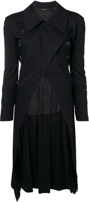 Comme Des Garçons Pre Owned Double Breasted Asymmetric Coat