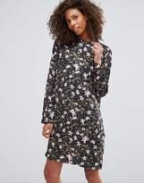 Vila High Neck Floral Dress