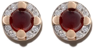 Pomellato 18kt rose gold M'ama non m'ama garnet and diamond earrings