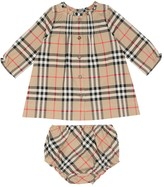 Thumbnail for your product : Burberry Children Baby Marissa cotton dress and bloomers set