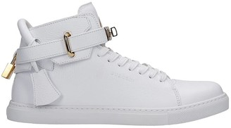 Buscemi 100 Mm Sneakers In White Leather