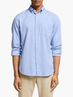 John Lewis & Partners Slim Fit Brushed Twill Shirt