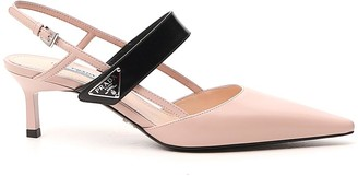 Prada Pointed Toe Slingback Pumps