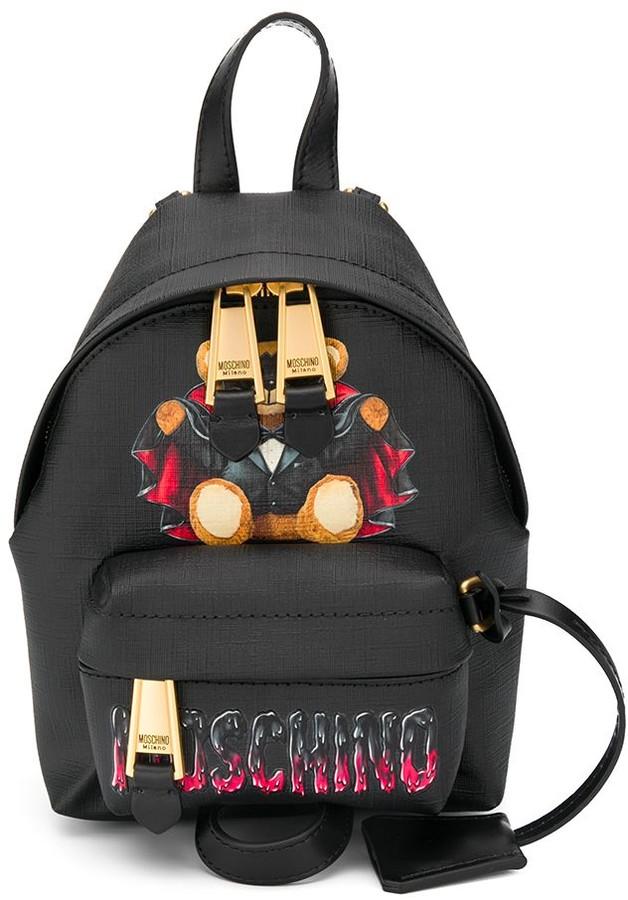 Moschino Bat Teddy print backpack