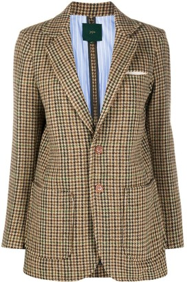 Jejia Tweed Single-Breasted Blazer