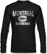 SLIAT Men's Montreal Canadiens Platinum Logo Long Sleeve T-shirt