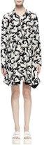 Stella McCartney Lelia Horse-Print Shirtdress, Black