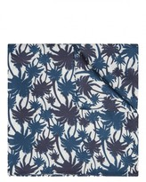 Silk Palm Print Pocket Square