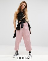 Reclaimed Vintage High Waisted Pants With Drop Crotch In Cord