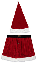 George Christmas Boxers and Santa Hat Set