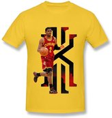 Fire-Dog-Custom Tees Men's Cleveland Cavaliers Kyrie Irving Short Sleeve Tee Size XL
