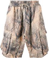 Yeezy elasticated print shorts