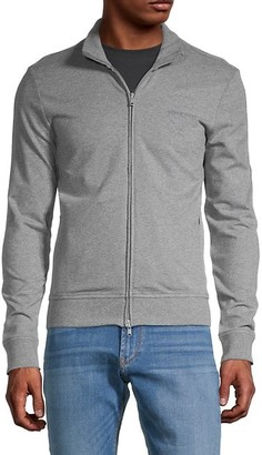 Armani Jeans Logo-Embroidered Stretch-Cotton Jacket