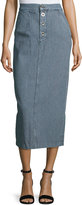 MiH Jeans Malo Striped Long Skirt, Blue/White