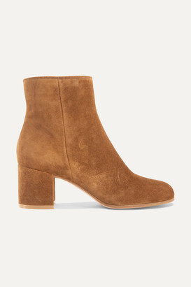 Gianvito Rossi Margaux 65 Suede Ankle Boots - Tan