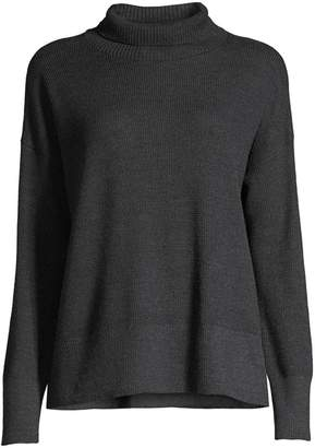 Eileen Fisher Merino Wool Waffle-Stitch Sweater