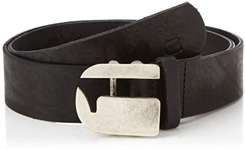 G Star G-Star Men's Rikku Logo Pin Belt (Black/Antic Silvr), NA (Size: )