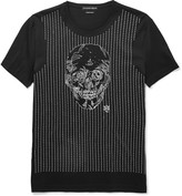 Alexander McQueen Slim-Fit Skull-Embroidered Cotton T-Shirt