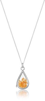Lily & Roo Sterling Silver & Glass Carnelian Birthstone Locket
