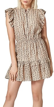 Joie Krystina Printed Ruffled Dress