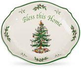 Spode Christmas Tree Bless This Home Tray