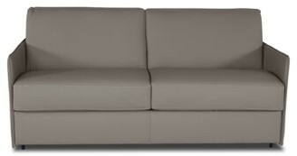 Latitude Run Cappe Genuine Leather 72'' Square Arm Sofa Bed Fabric: Medium Gray Genuine Leather