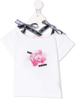 Miss Blumarine bow detail T-shirt