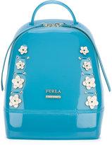 Furla floral-appliquéd backpack - women - Leather/Polyester/PVC/metal - One Size