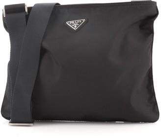 Prada Zip Top Messenger Bag Tessuto Large