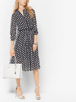Michael Kors Dot-Print Tie-Waist Dress