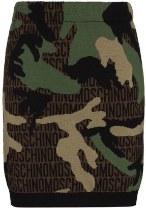 Moschino Camo Knit Mini Skirt