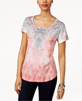 Style&Co. Style & Co Sublimated-Print T-Shirt