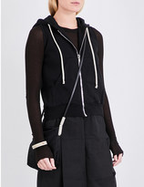 Drkshdw Sleeveless cropped cotton-jersey hoody